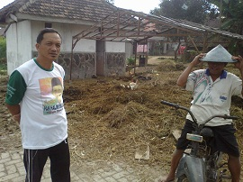 Produksi Pupuk Gapoktan Dewi Ratih Sukoanyar Terkendala Hujan
